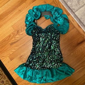 Turquoise Sequined Costume